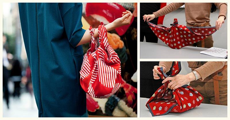 Шьём и складываем фуросики — японский аналог нашей авоськи. Супер-замена пластиковым пакетам