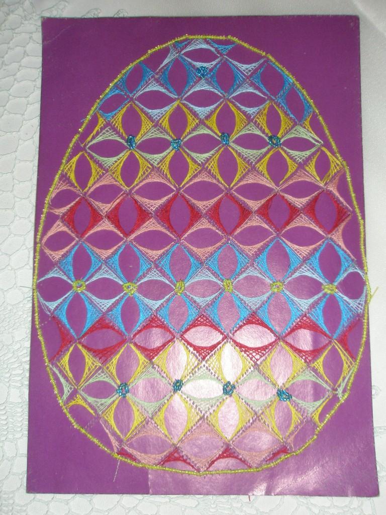 Картинки на изонить яйцо