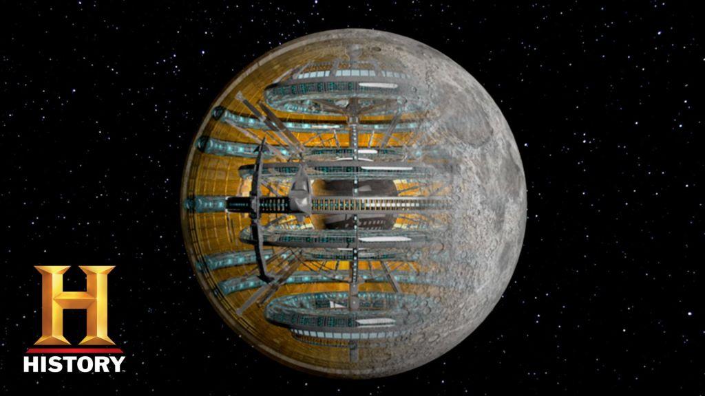 Луна - космический корабль инопланетян