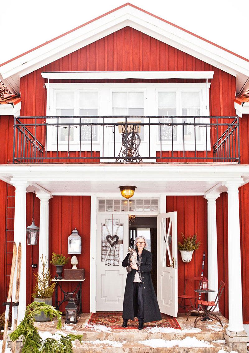 Скромный, но такой уютный традиционный домик в Швеции