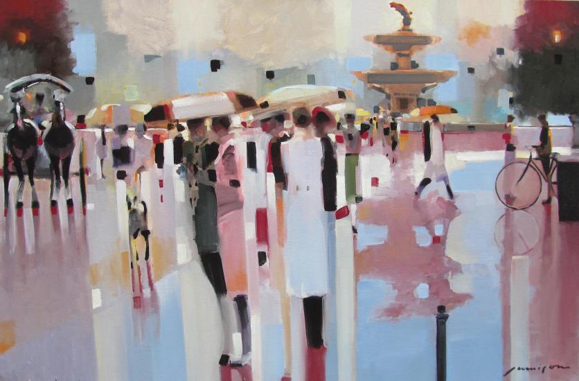 В шепоте дождя. Городской импрессионизм Jeff Jamison
