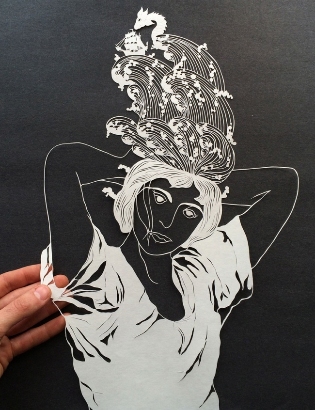 В умелых руках бумага становится произведением искусства искусство, рукоделие, художник
