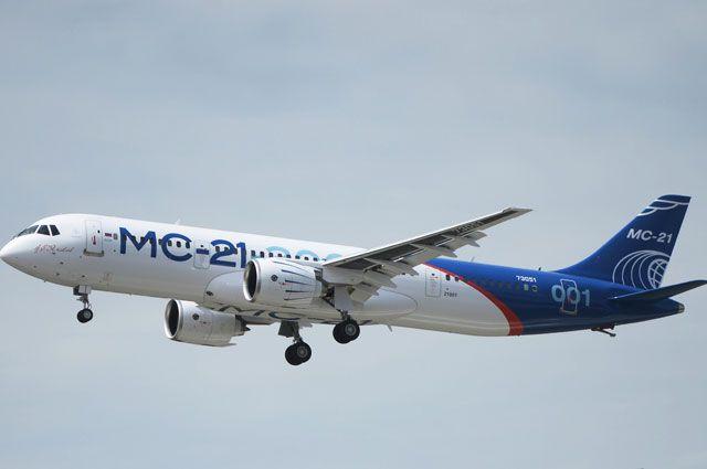 Пассажирский самолет МС-21 на испытаниях набрал высоту 12 километров