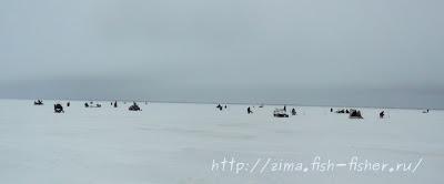 На зимней рыбалке в ветреный день
