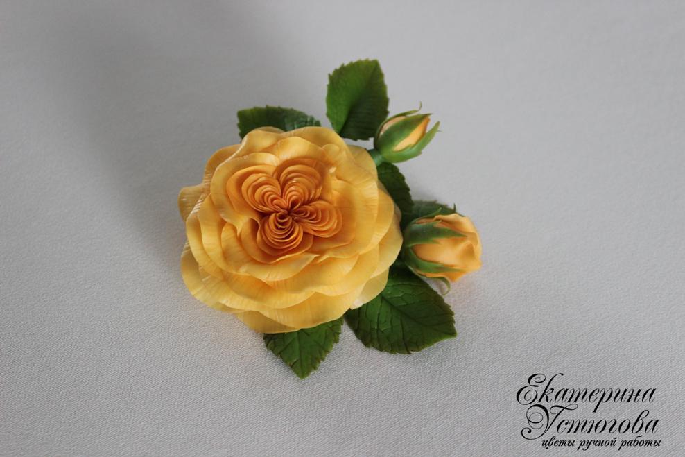 Цветы из полимерной глины (холодного фарфора). Екатерина Устюгова