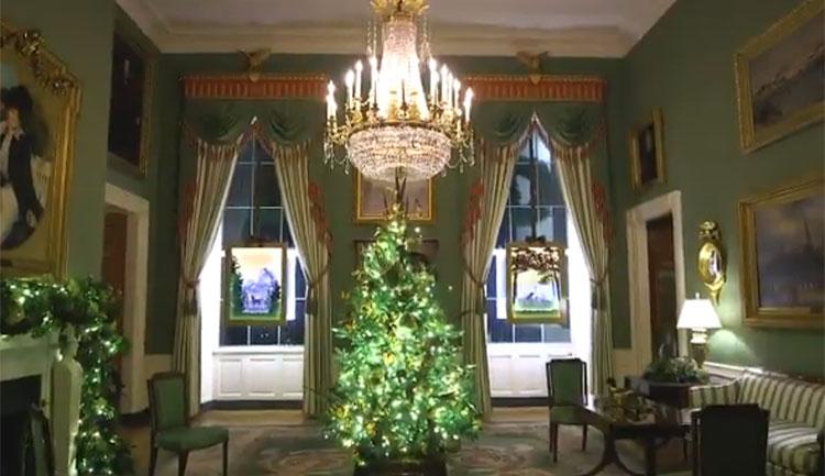 Мелания Трамп показала, как украсила Белый дом к Рождеству с помощью волонтеров со всей Америки Звезды,Новости о звездах