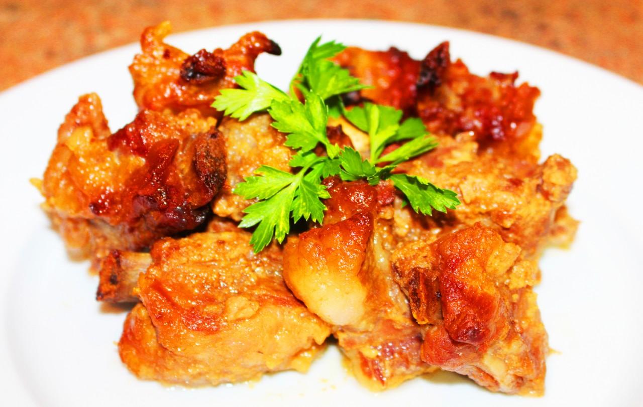 Свиные ребра в медовом соусе