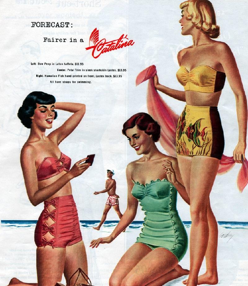 купальники ретро стиль