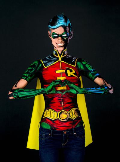 Невероятное превращение в супергероя за 15 часов бодиарта