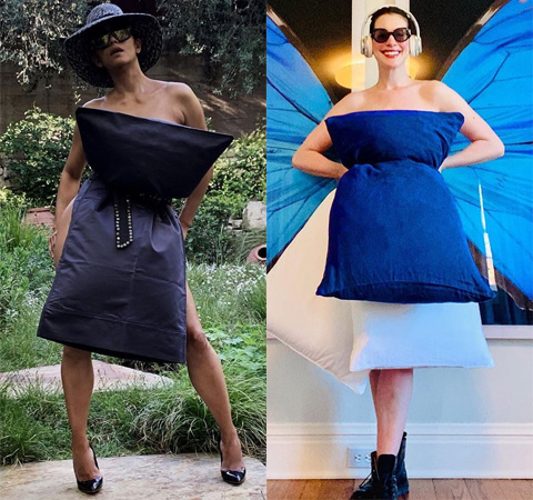 Модная битва: Холли Берри против Энн Хэтэуэй pillowchallenge,Битва платьев