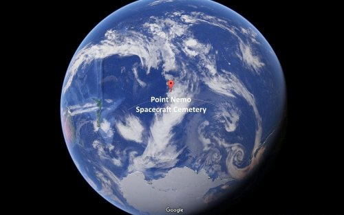 Где находится свалка космических кораблей