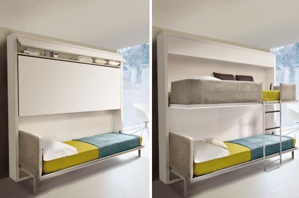 Шкаф двухэтажная кровать трансформер Kali Duo