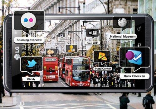 Компания LG анонсирует систему трехмерной дополненной реальности в новом смартфоне Optimus 3D.
