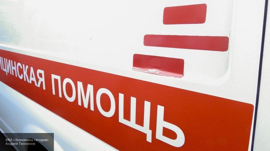 Машина скорой помощи с пациентом внутри загорелась в Кемерове