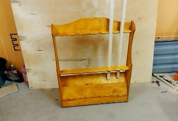 Удобная стойка для удочек или столярный DIY