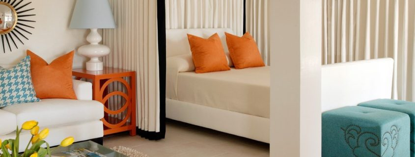 Дизайн гостиной спальни 18 кв м: диван или уголок со спящей функцией вместо кровати