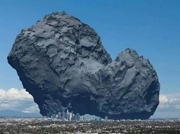 12. Комета Чурюмова — Герасименко и Лос-Анджелес в мире, животные, люди, размер, разница, фото