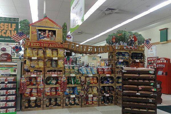Красивые дисплеи с продуктами продукты, супермаркет