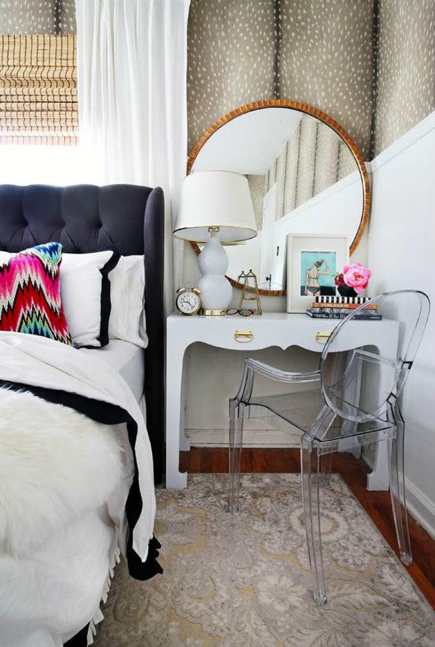 Мебель и предметы интерьера в цветах: бирюзовый, черный, серый, светло-серый, белый. Мебель и предметы интерьера в стиле эклектика.