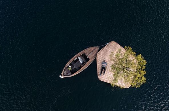 В каналах Копенгагена появились плавучие острова для барбекю