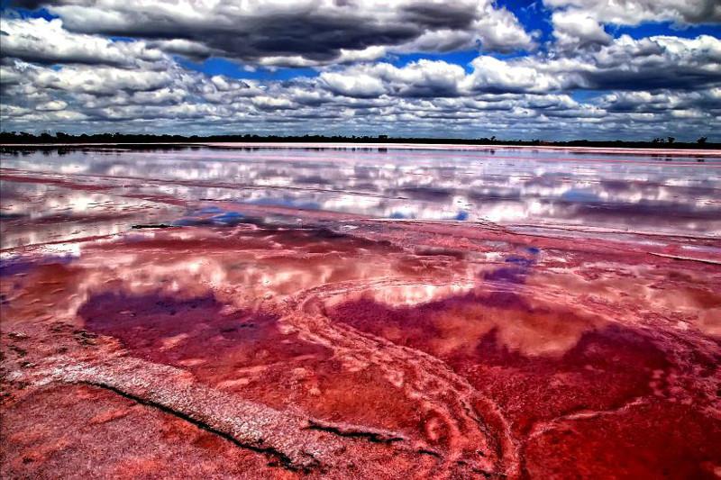 2. Озеро Ретба в Сенегале красивые места, прекрасная планета, чудеса природы