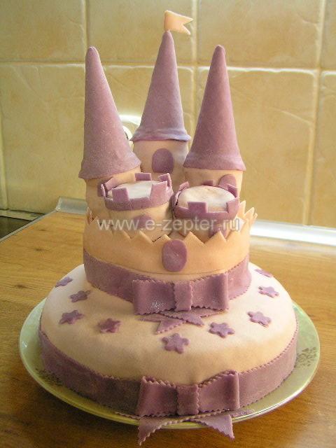 """""""Замок"""" торт. C видео. Наша Олечка Бреус может сделать не хуже! ..."""