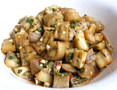 Салат из баклажанов с чесноком фото