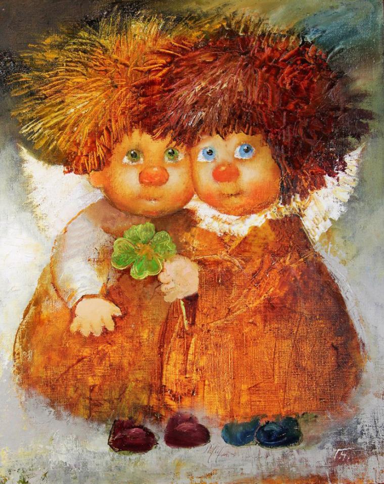 Наивные и трогательные ангелы Галины Чувиляевой