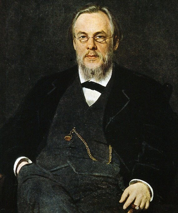С.П.Боткин, портрет кисти И.Н.Крамского (1880). история, медицина, факты