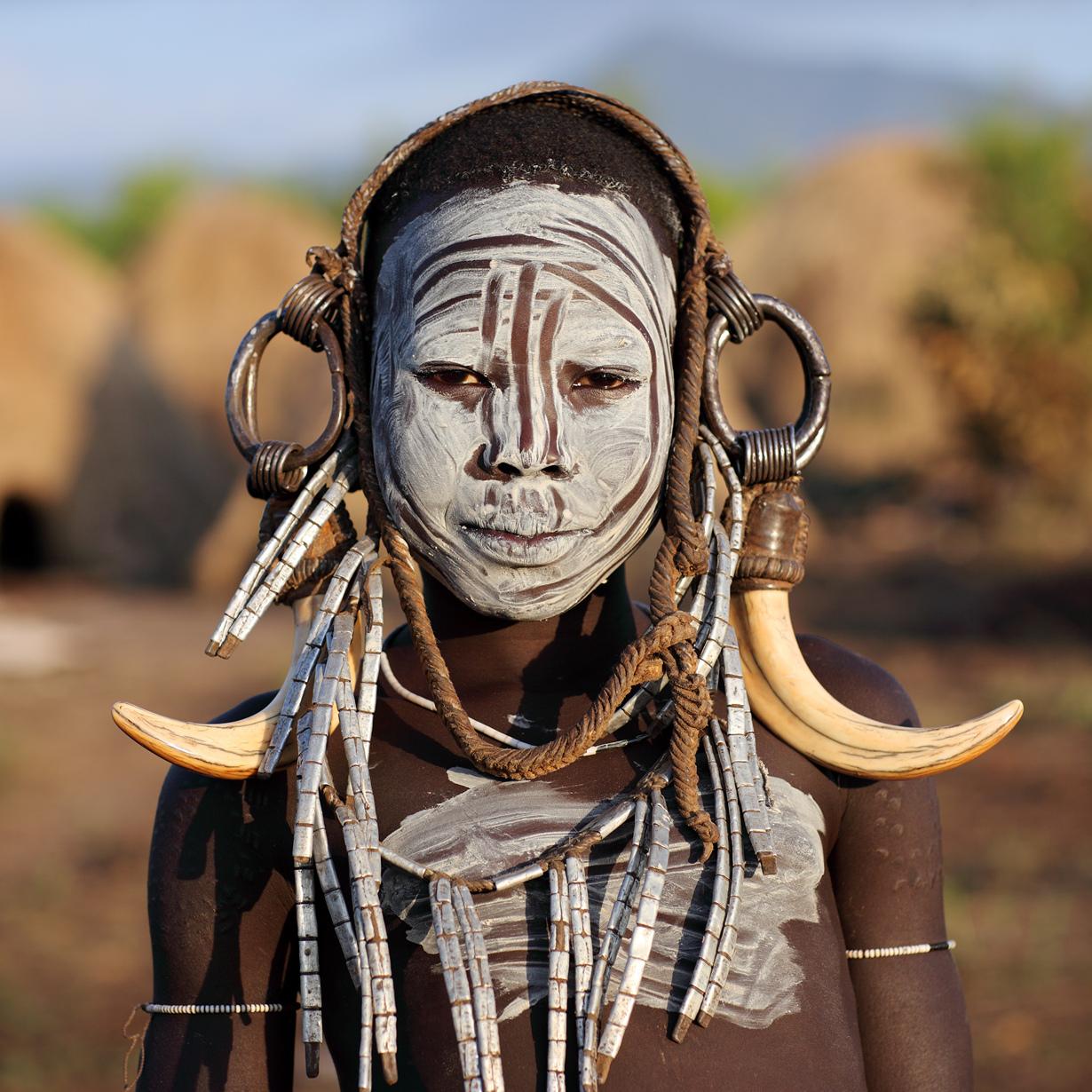 фото людей племени мурси предвкушении, дети