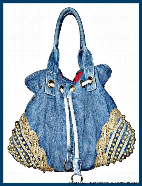f897f2912a1b Очередные переделки: джинсовые сумки