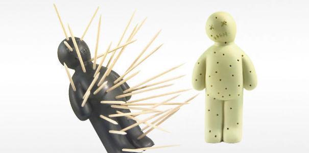Держатель для зубочисток в виде куклы вуду дизайн, изобретения, креатив