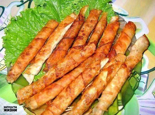 Закусочные рулетики из армян…
