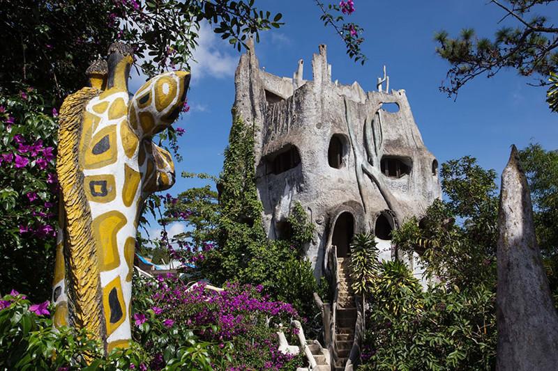 13. Сумасшедший дом (Crazy House) во Вьетнаме. в мире, дом