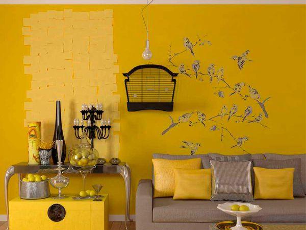 Множество идей декора стен в гостиной