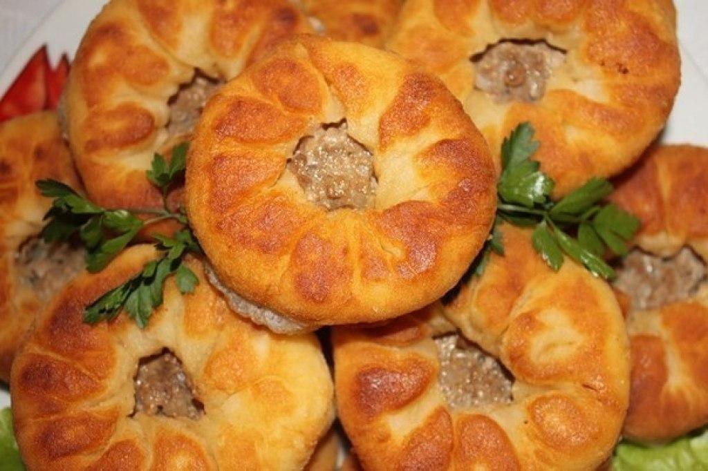Рецепт «Беляши вкусные и очень быстрые» (тесто без дрожжей).