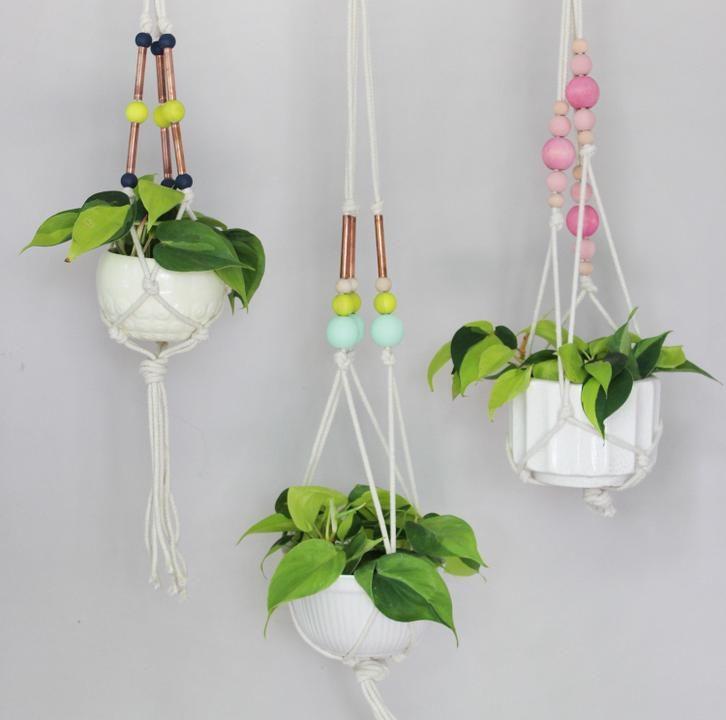 Декор подвесных цветочных горшков