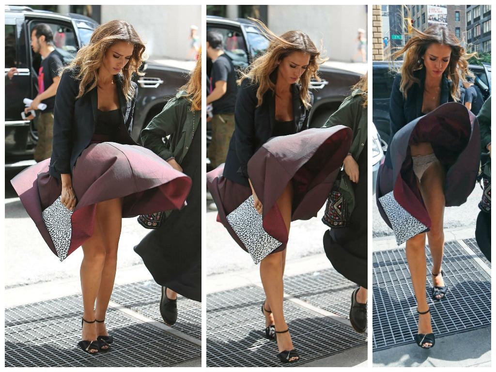 женщина подняла юбку - 3
