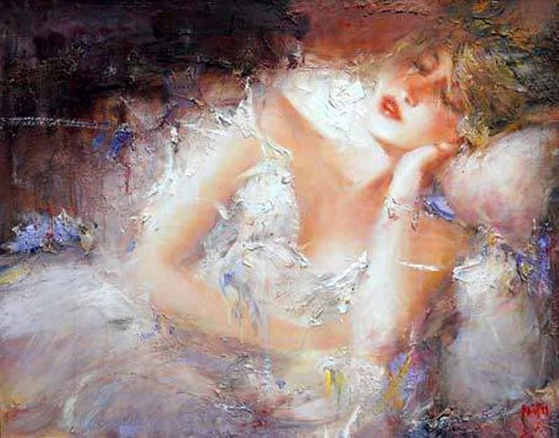 Чужая женщина - загадка для мужчины… Художник Павлов Мстислав