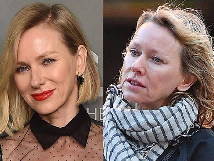 Актрисы с макияжем и без