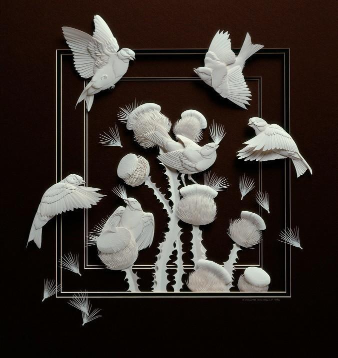 Бумажные скульптуры Кэлвина Николлса