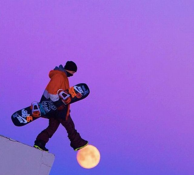 Сноубордист смешная картинка