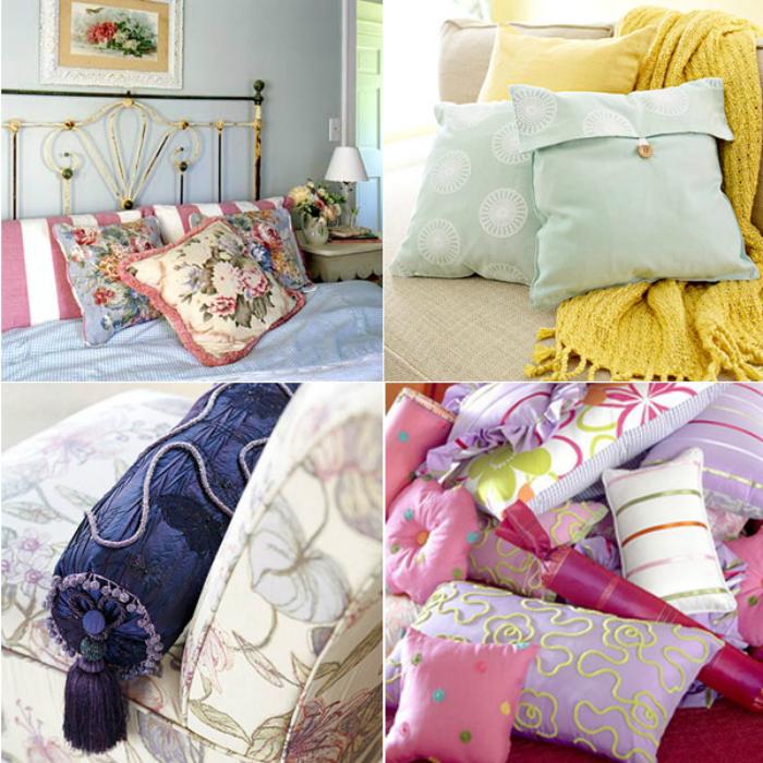 Оригинальные диванные подушки сделают жилье уютным и добавят индивидуальности.