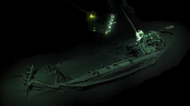 В Черном море обнаружен неповрежденный древнегреческий корабль возрастом 2400 лет