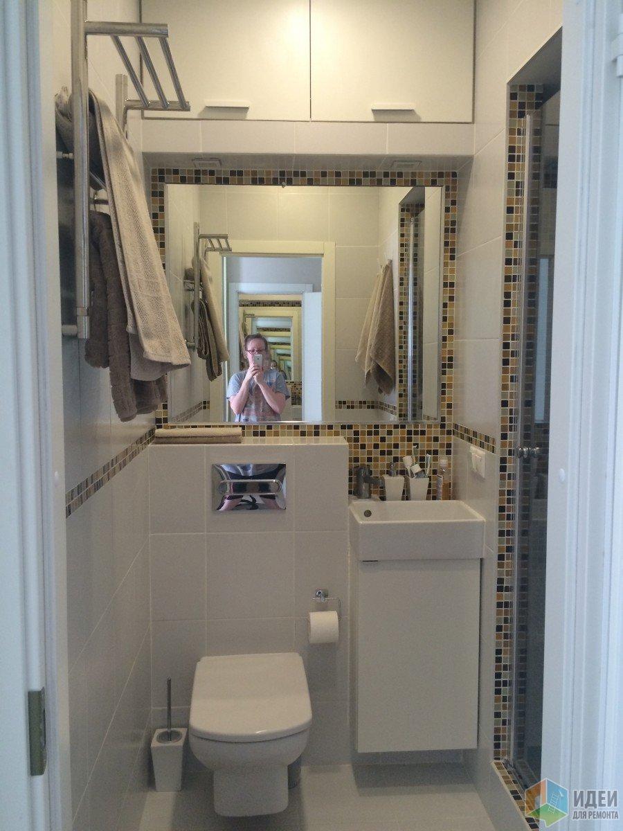 Маленькая ванная с душевой, дизайн ванной фото