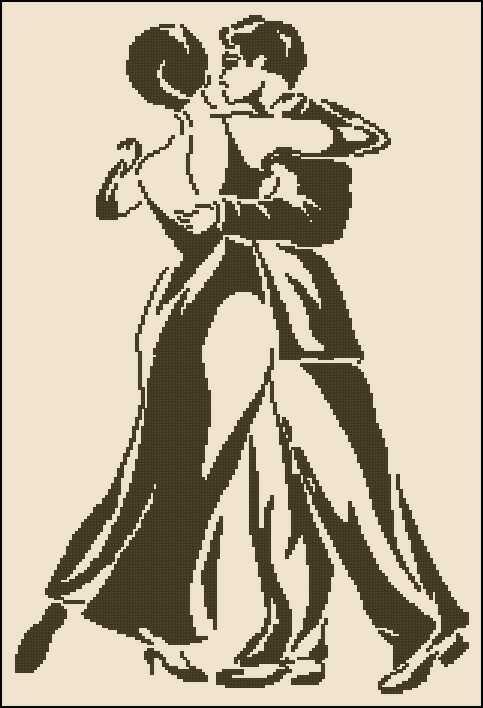 Схема вышивки крестом бесплатно танго