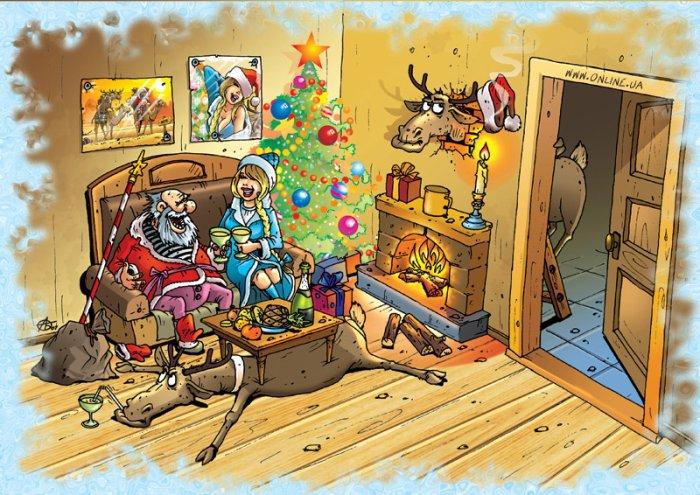 Новогодние картинки юморные