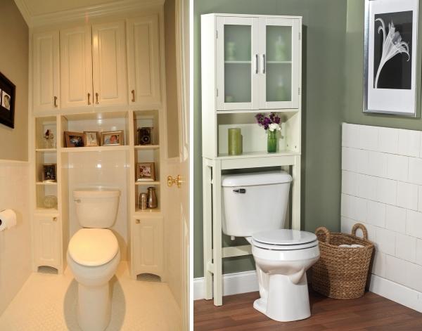 Выбираем вместительный шкаф в туалет