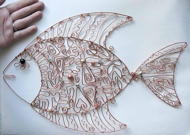 Декоративные изделия из проволоки своими руками