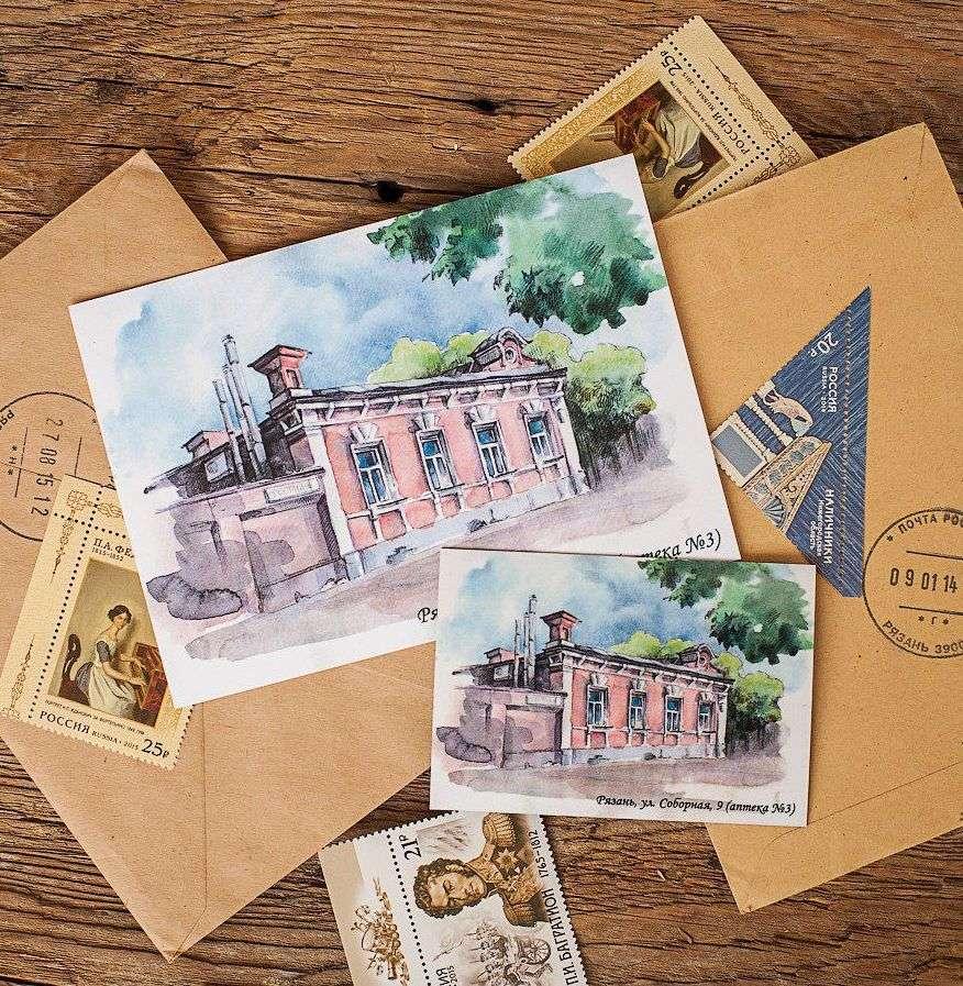 Для, изображения на почтовых открытках